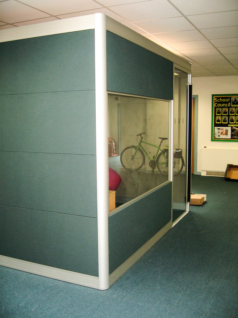Front of classroom with door and window