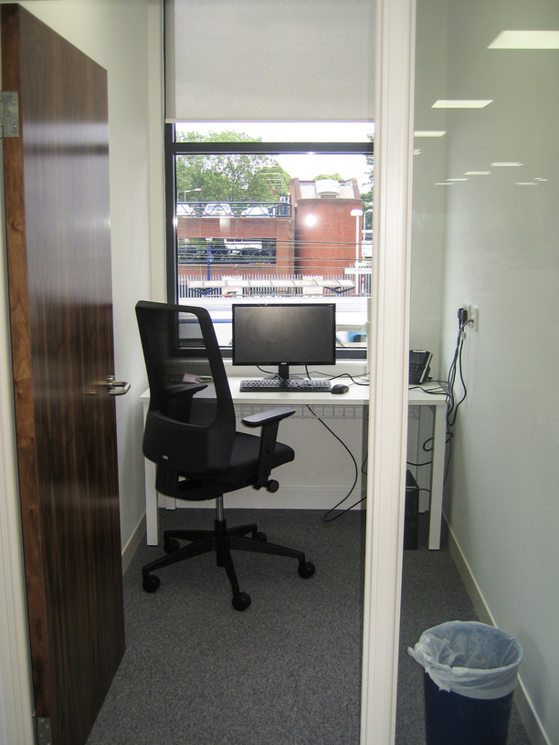 Quiet room for with desk and chair