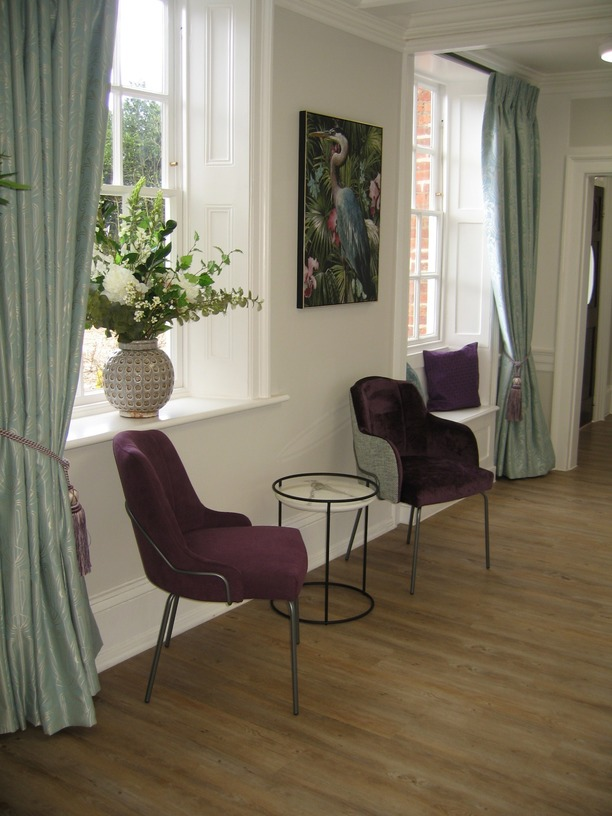 London side and arm chairs with coffee table