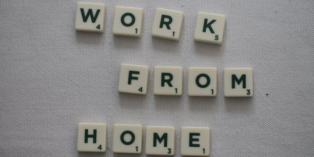 Scrable letters spelling out Work From Home
