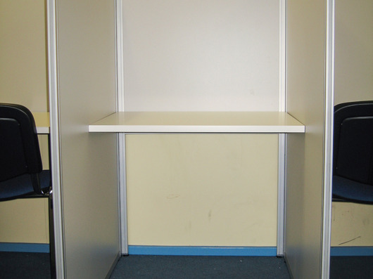 Booth only with worktop