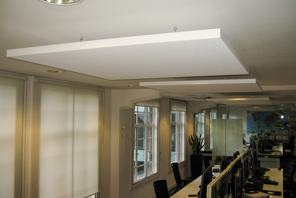 Detail of acoustic ceiling panel