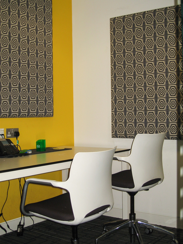 Acoustic wall panels in quiet room